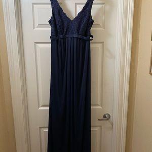 Davids Bridal Maternity Sleeveless Long Lace Dress